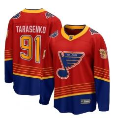 Men's St. Louis Blues #91 Vladimir Tarasenko Fanatics Branded Red 2020-21 Special Edition Breakaway Player Jersey