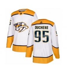 Men's Nashville Predators #95 Matt Duchene Authentic White Away Hockey Jersey