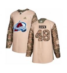 Men's Colorado Avalanche #48 Calle Rosen Authentic Camo Veterans Day Practice Hockey Jersey